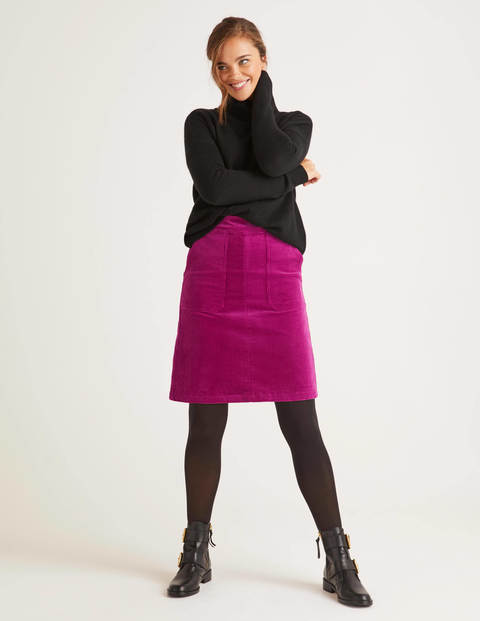 Leonie Cord Mini Skirt - Vibrant Plum