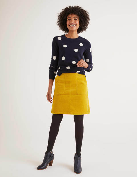 Leonie Cord Mini Skirt - Saffron
