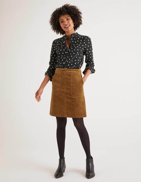 Leonie Cord Mini Skirt - Gingerbread