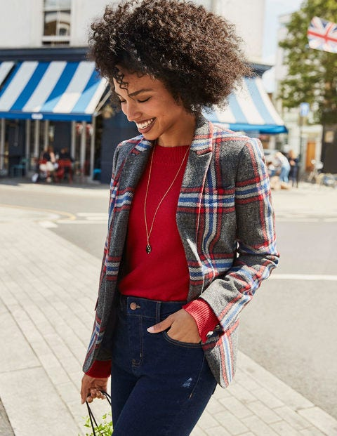 Smyth British Tweed Blazer - Red and Blue Check