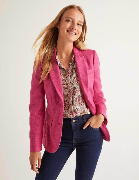 Smyth British Tweed Blazer - Pink