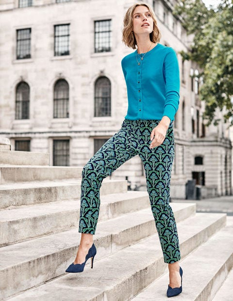 Velvet Pants - Navy and Green, Poppyseed Bud
