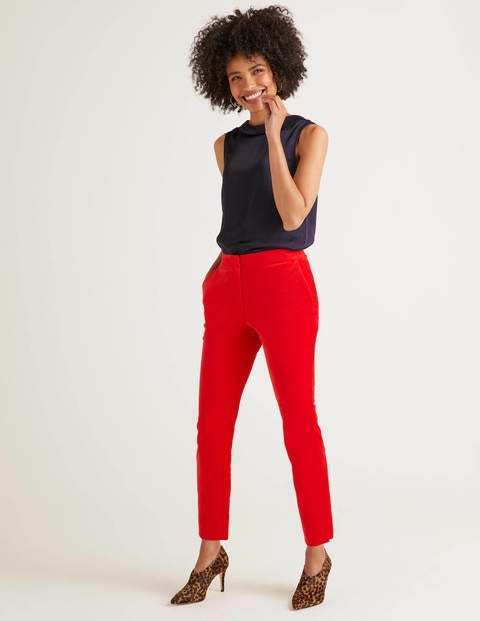 Velvet 7/8 Pants - Post Box Red
