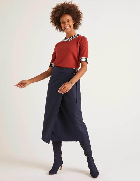 Constance Wrap Skirt - Navy