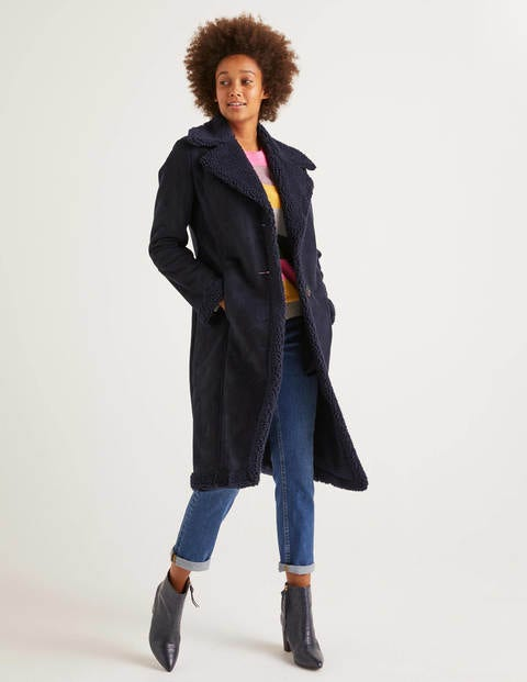 Bell Teddy Lined Coat - Navy