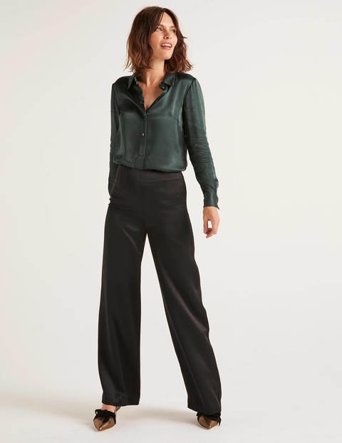 Amney Satin Wide Leg Trousers