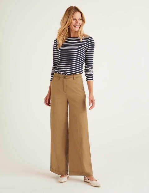 Attingham Wide Leg Trousers - Camel