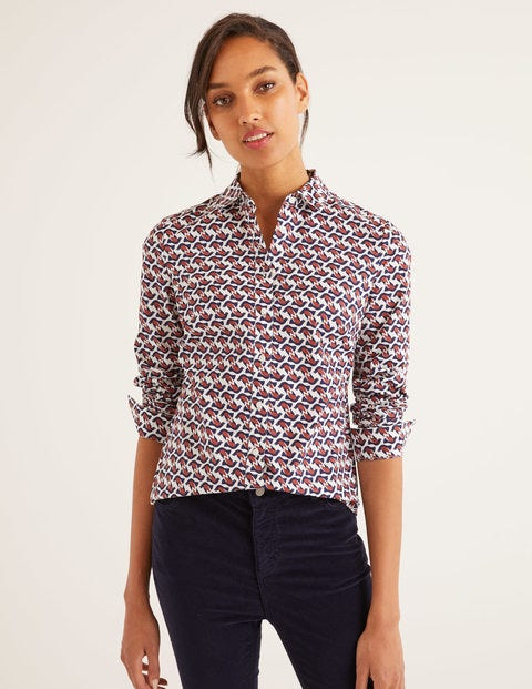 Modern Classic Shirt - Ivory Dove Geo
