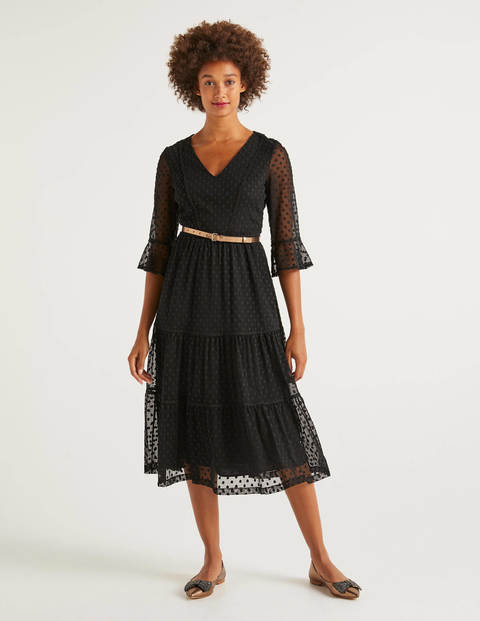 Rosanna Embroidered Dress - Black