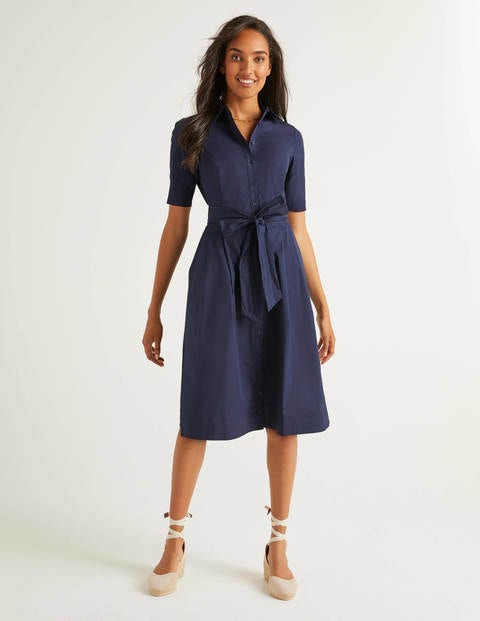 Anastasia Shirt Dress - Navy