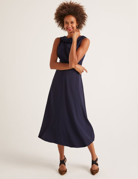 Clarissa Midi Dress - Navy