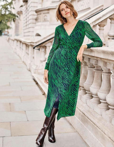 Hazel Midi Dress - Highland Green, Safari