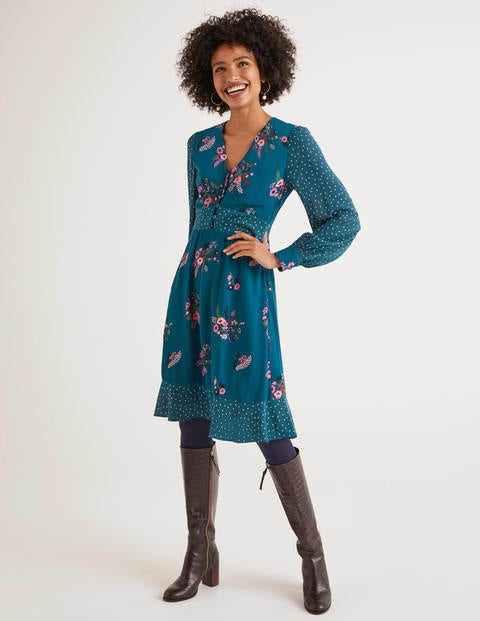 Ivy Dress - Baltic, Country Posy