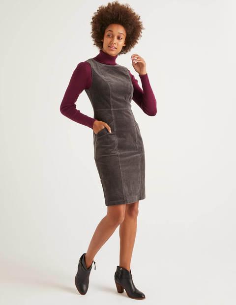 Colette Cord Dress - Graphite