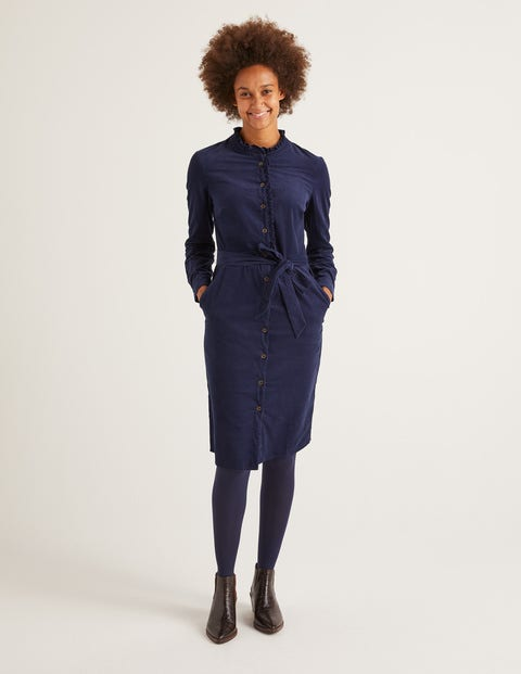 Evelyn Shirt Dress - French Navy