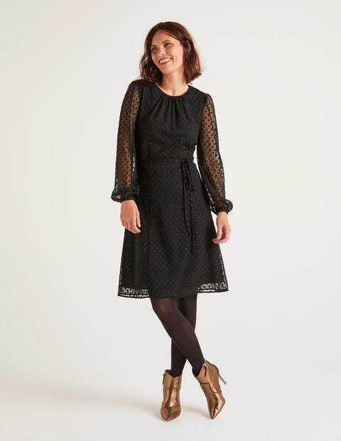 Jenna Besticktes Kleid Black Damen Boden, Black
