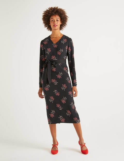 Romaine Dress - Black, Meadowsweet