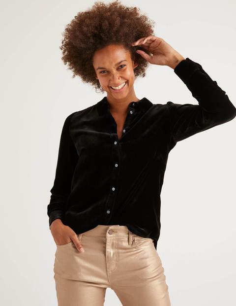 Eloise Velvet Shirt - Black