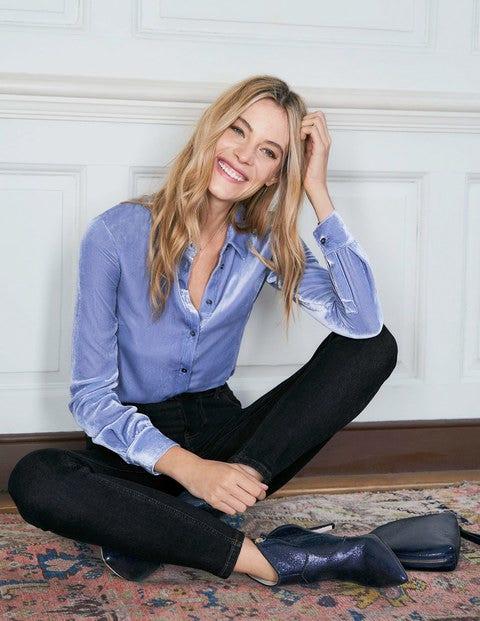 Eloise Velvet Shirt - River