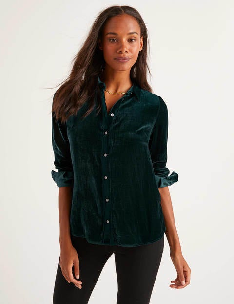 Eloise Velvet Shirt - Baltic