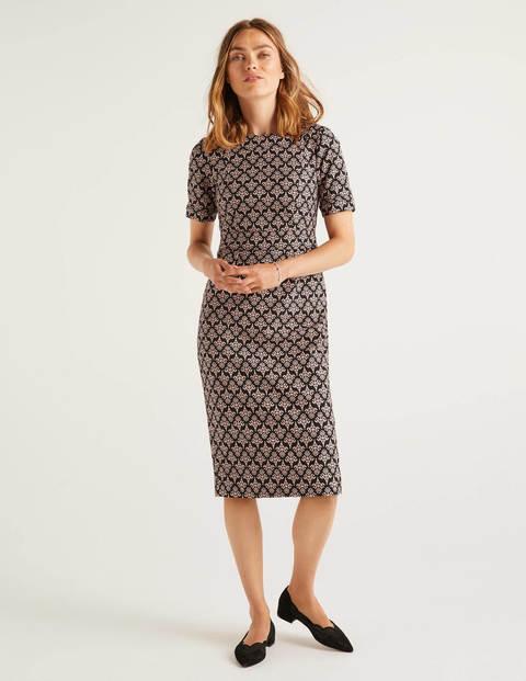 Talia Texturiertes Kleid Black Damen Boden, Black