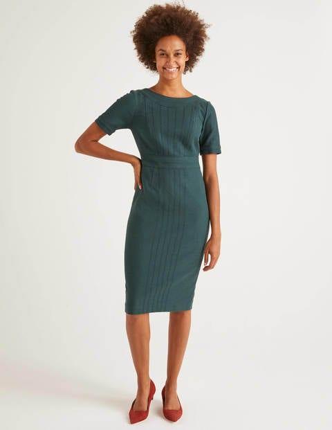 Talia Texturiertes Kleid Green Damen Boden, Green