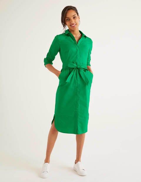 Freya Kleid mit langen Ärmeln - Schottengrün