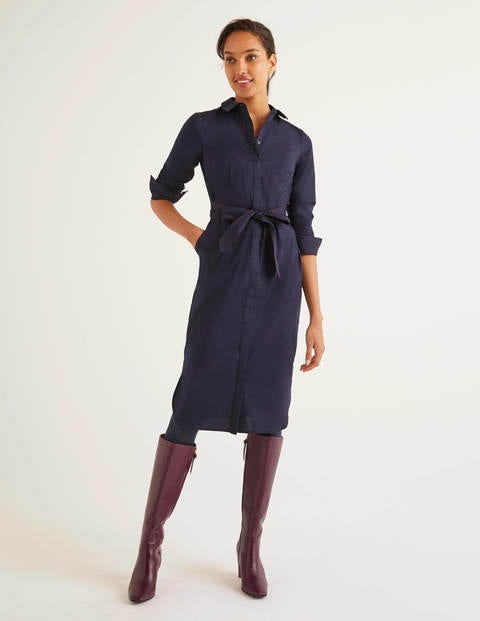Long Sleeve Freya Dress - Navy