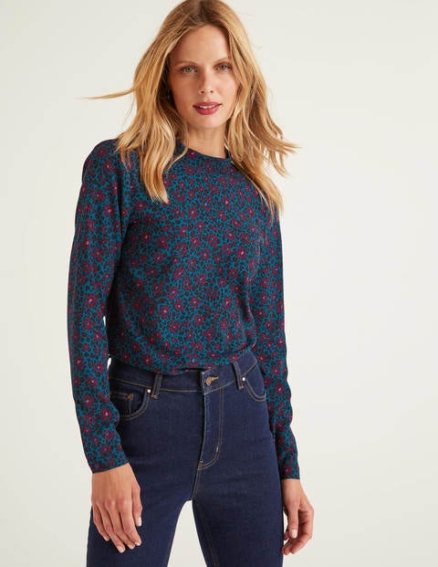 Lilian Top - Ruby Ring, Floral Leopard