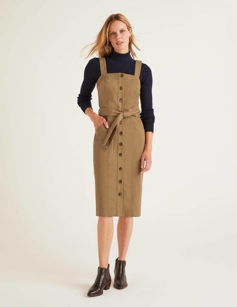 Carey Chino Dress - Camel