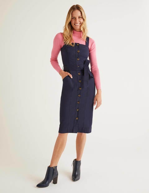 Carey Chino Dress - Navy