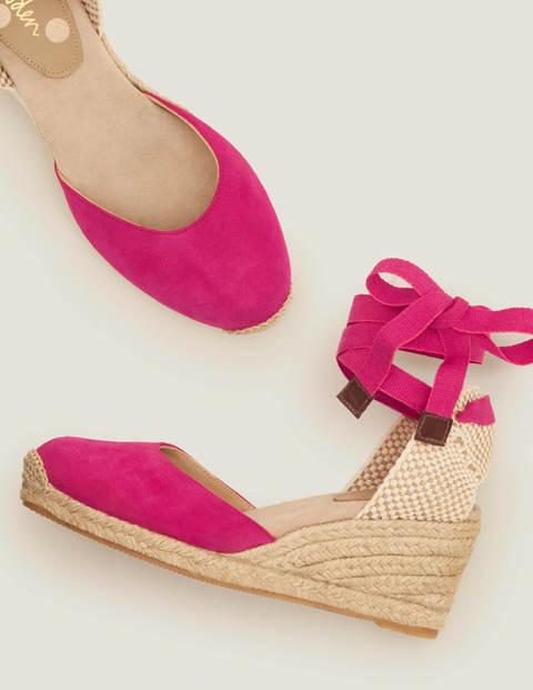 Cassie Espadrille Wedges - Pink Flambe