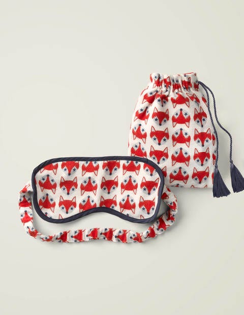 Printed Eye Mask - Ivory Starry Foxes