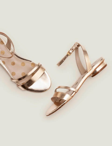 Freya Sandals - Gold Metallic
