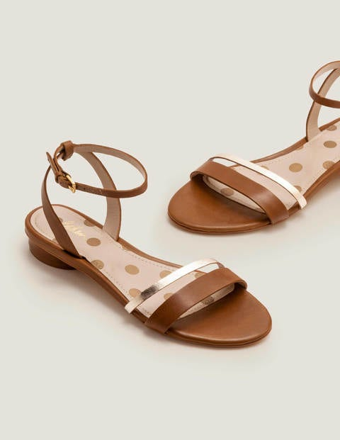 Freya Sandals - Tan/Gold