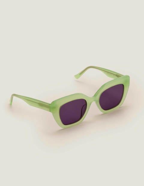 Artikel klicken und genauer betrachten! - Der Rahmen dieser stylischen Katzenaugen-Sonnenbrille besteht aus Acetat und Metall, wodurch sie sowohl robust als auch superleicht ist. Die Gläser sind mit einem hohen UV-Schutz ausgestattet - so sind Sie bestens vor der Sonne geschützt.   im Online Shop kaufen
