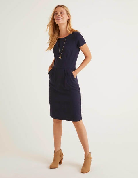 Phoebe Jersey Dress - Navy