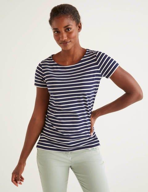 Short Sleeve Breton - Navy/Ivory