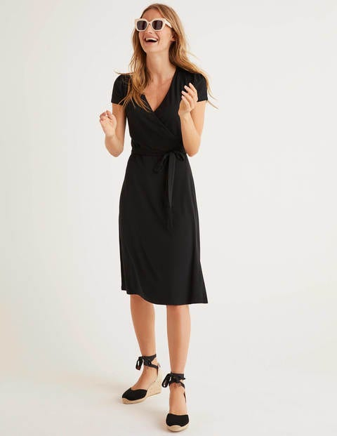 Summer Wrap Dress - Black