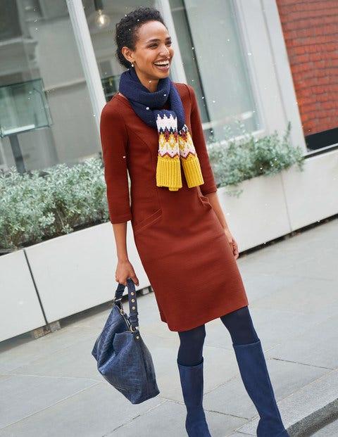 Jasmine Ottoman Dress - Conker