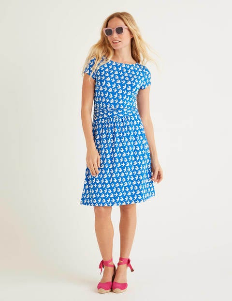 Amelie Jersey Dress - Bold Blue, Swift