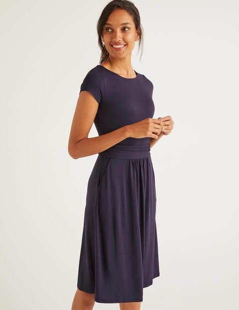Amelie Jersey Dress - Navy