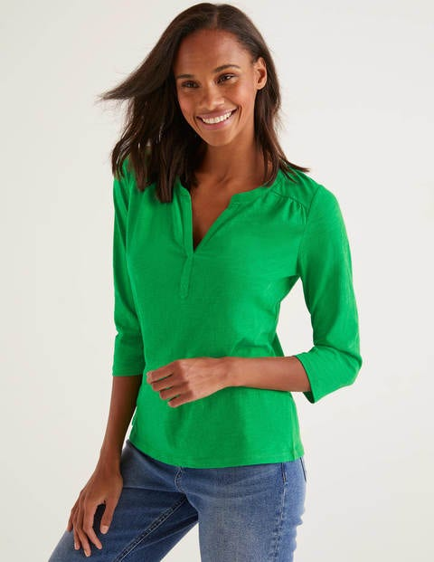 The Cotton Notch Tee - Rich Emerald