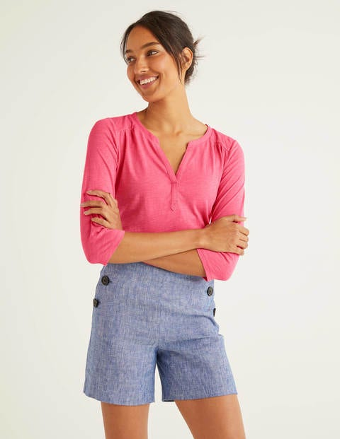 The Cotton Notch Tee - Bright Camellia