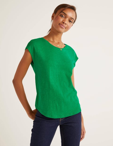 The Cotton Tee - Rich Emerald