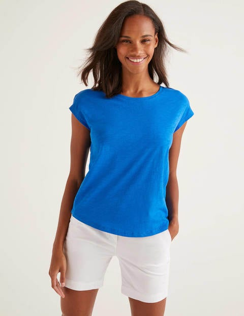 The Cotton Tee - Bold Blue
