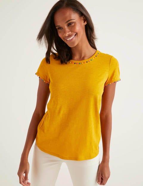 Charlie Jersey-T-Shirt - Sonnengelb