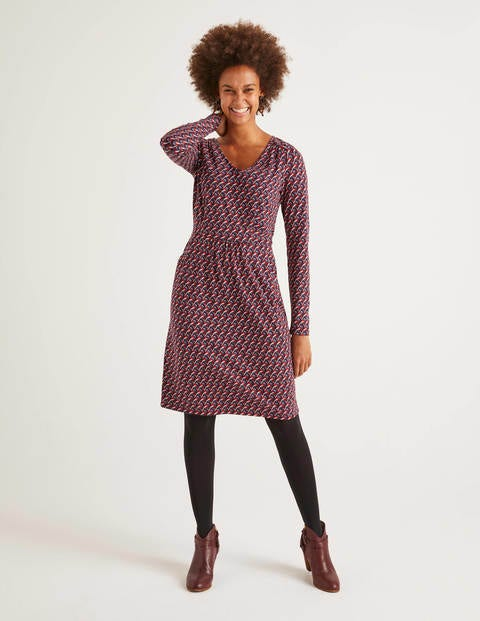 Romilly Jersey Dress - Fig Bullfinch