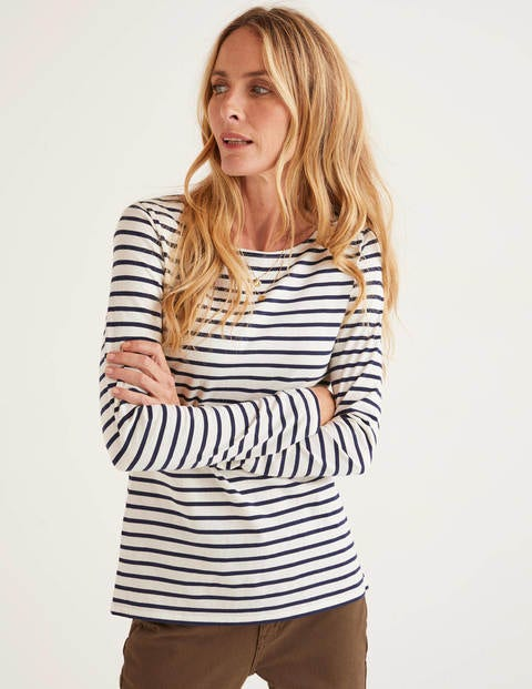 Long Sleeve Breton - Ivory/Navy