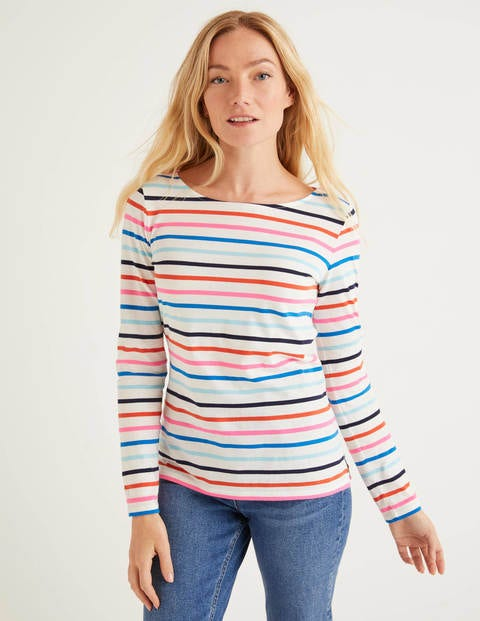 Long Sleeve Breton - Bold Blue/Iceberg Multi